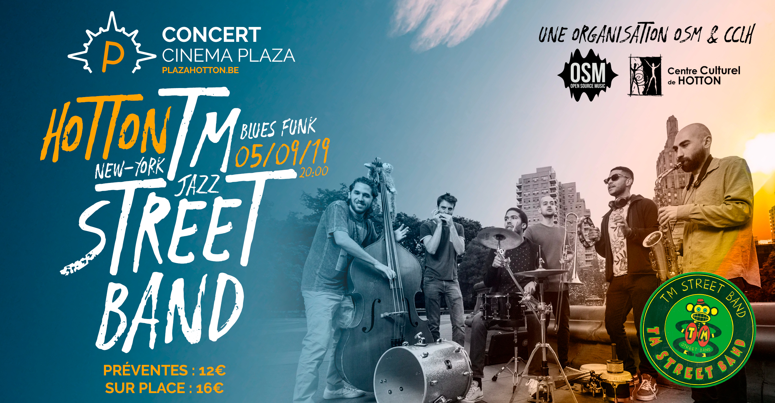 !CONCERT! <br> TM Street Band – New York Jazz Blues Funk Band